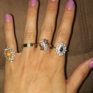 18kge gold statement rings vintage